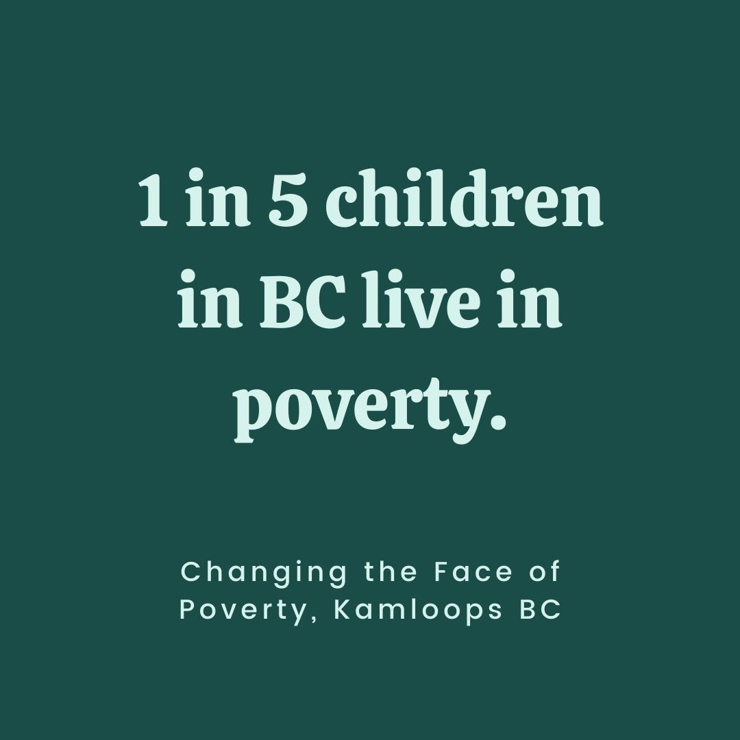 1 in 5 children in BC live in poverty